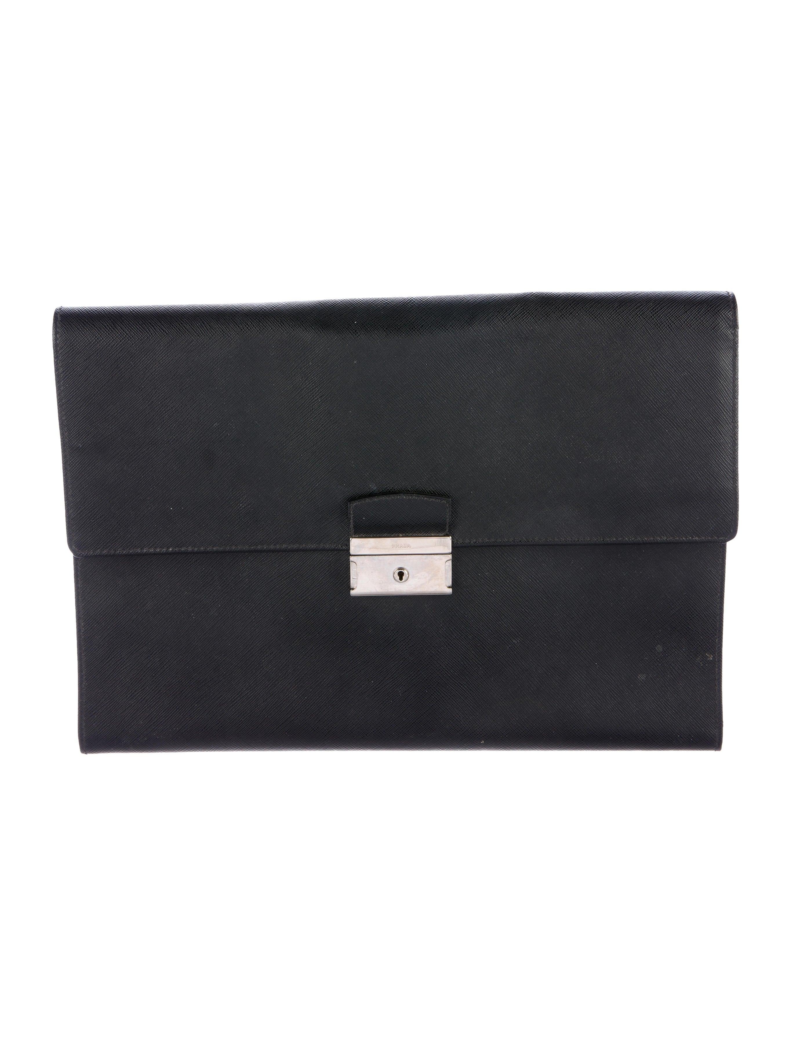 Prada saffiano document holder bags pra141915 the for Prada mens document holder