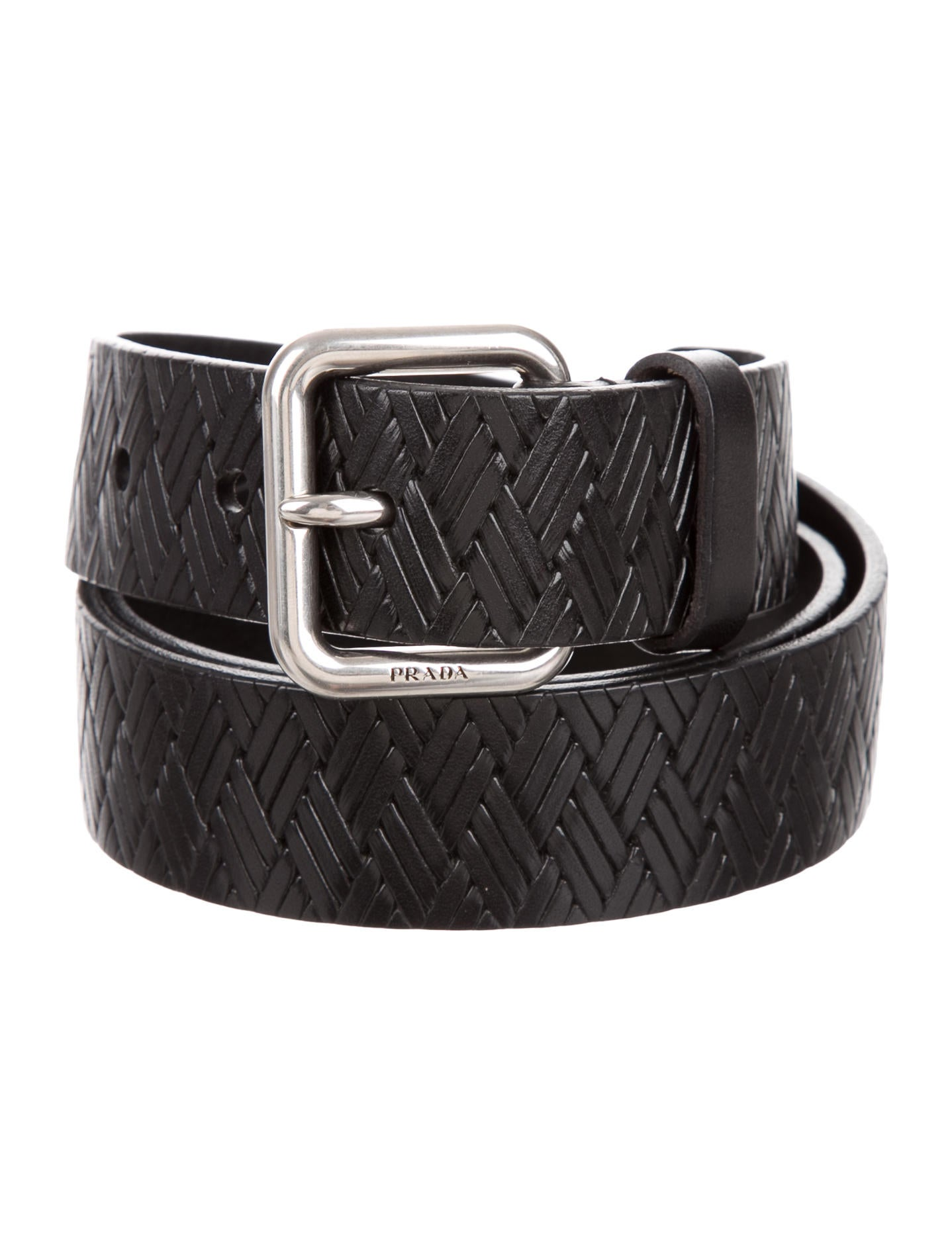 prada woven leather belt accessories pra141933 the