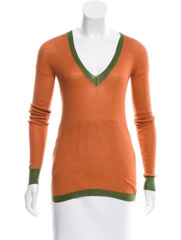 Prada Cashmere V-Neck Top None
