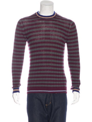 Prada 2016 Wool & Cashmere Striped Sweater None