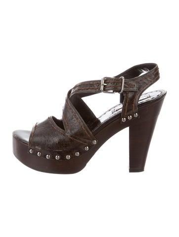 prada platform clog sandals shoes pra142110 the realreal