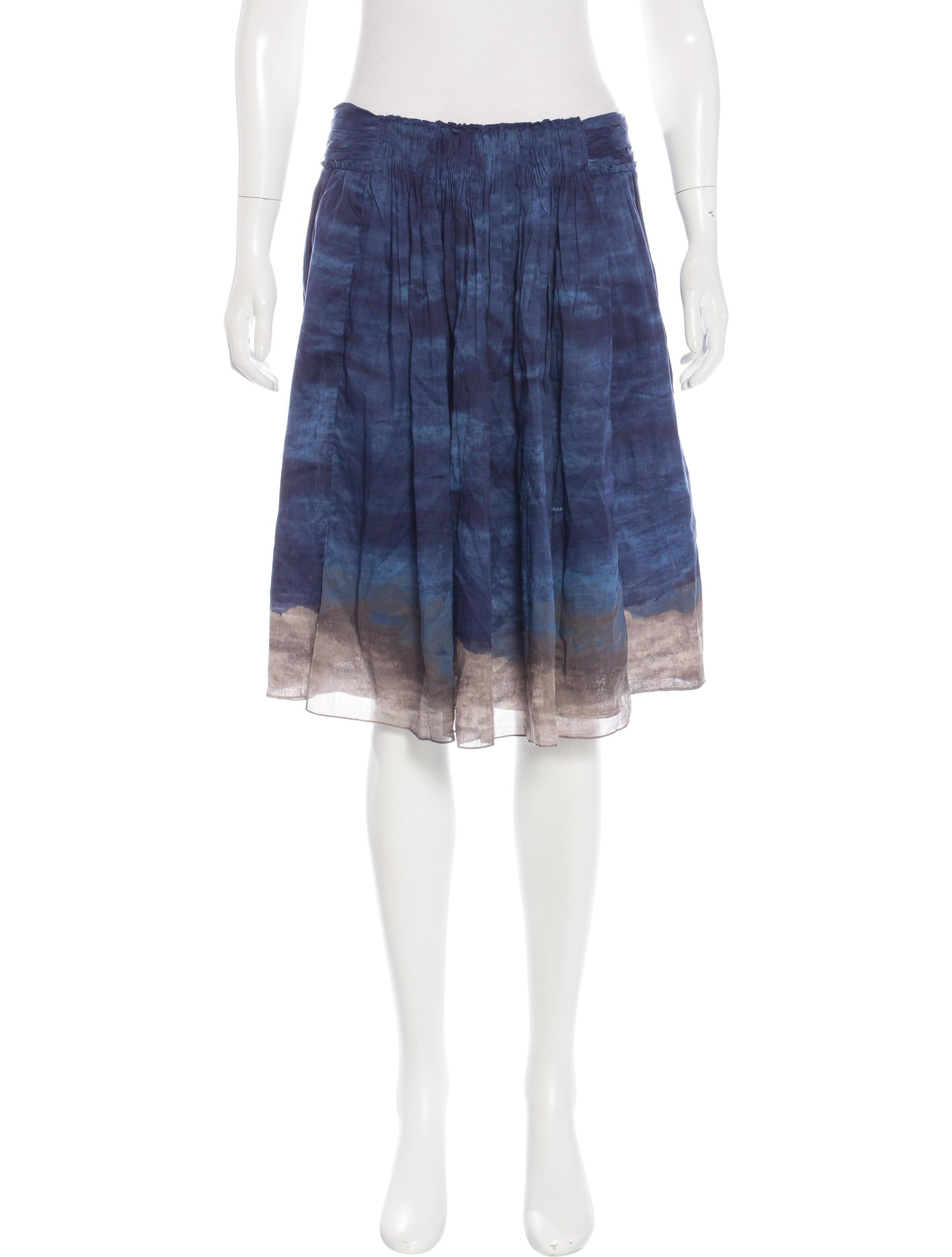 prada printed a line skirt w tags clothing pra142445