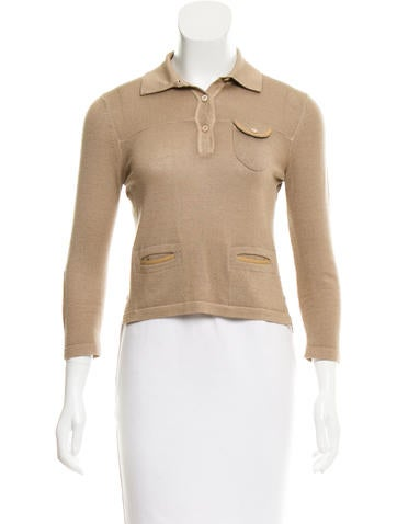 Prada Long Sleeve Knit Top None