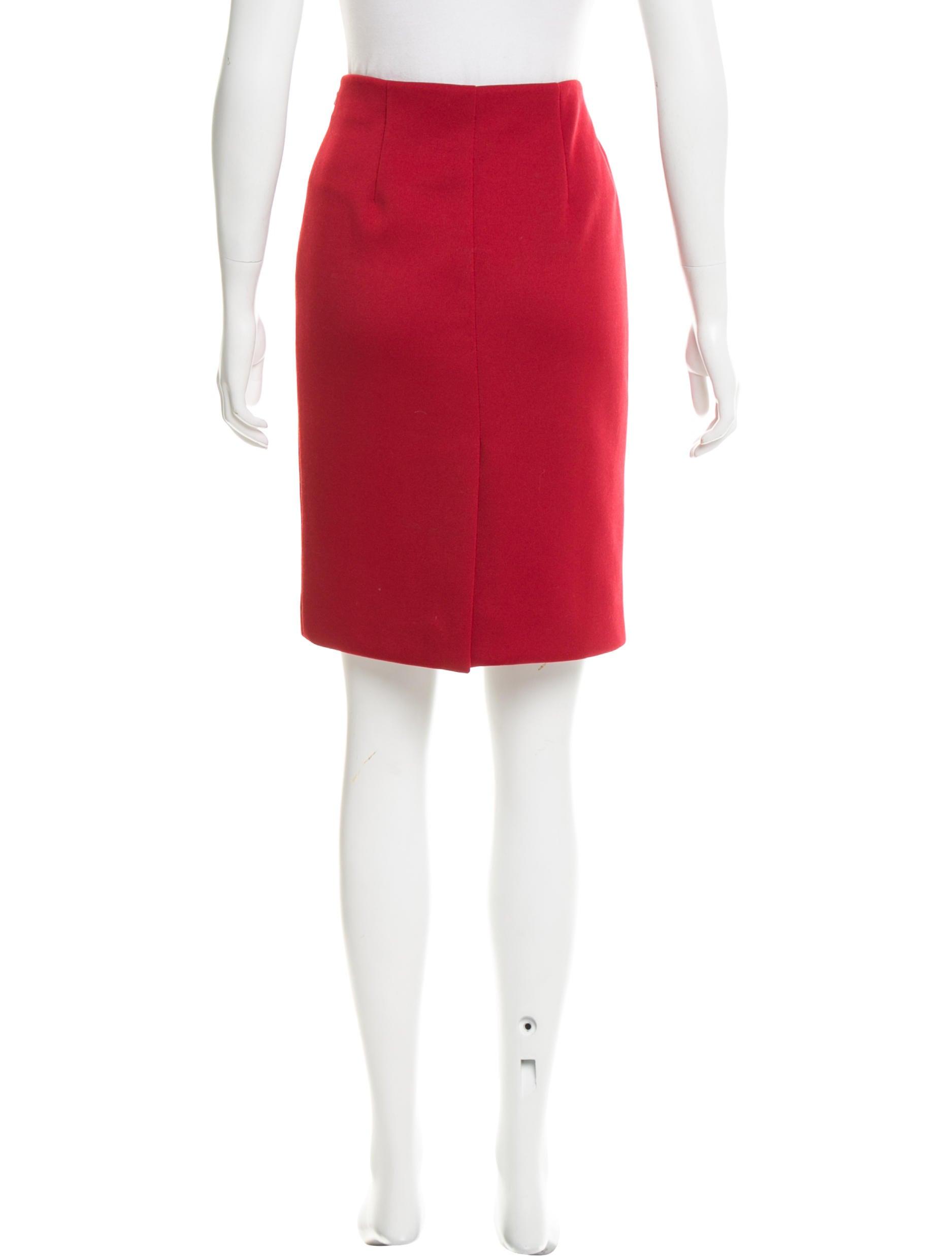prada knee length pencil skirt clothing pra142686