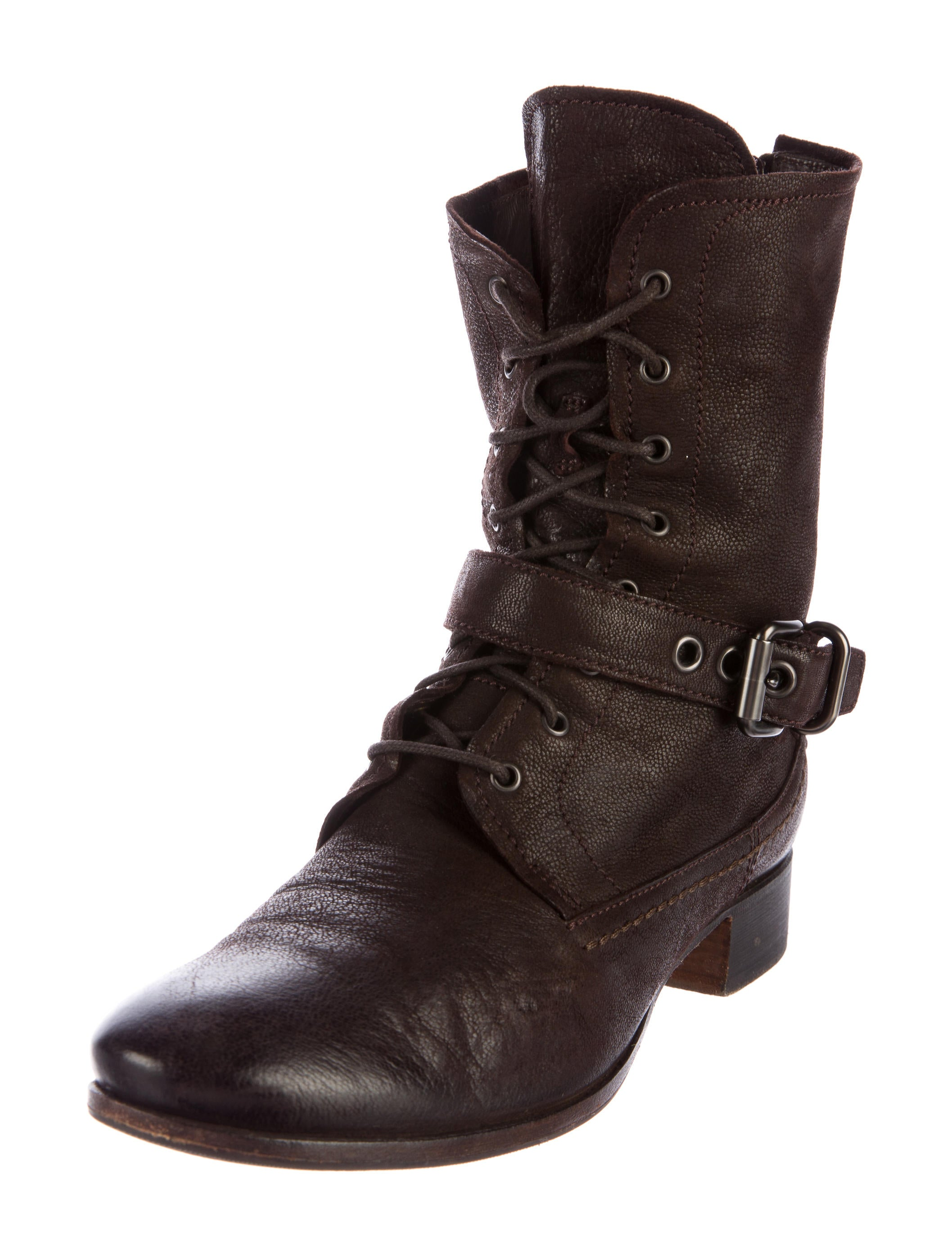 prada leather lace up ankle boots shoes pra142928