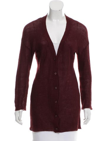 Prada V-Neck Textured Cardigan None