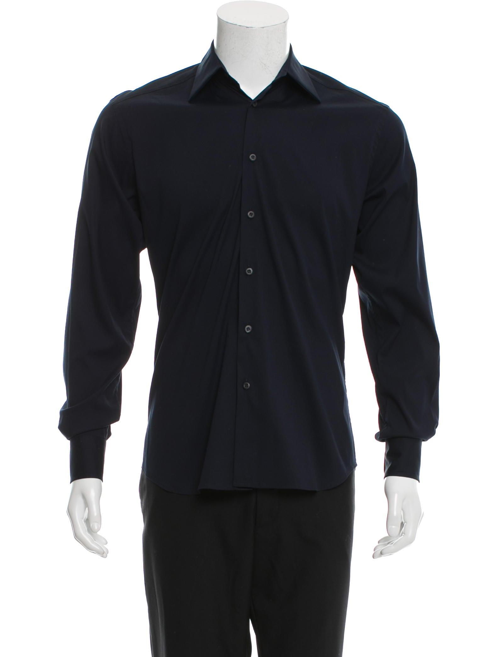 Prada Long Sleeve Button Up Shirt Clothing Pra143075