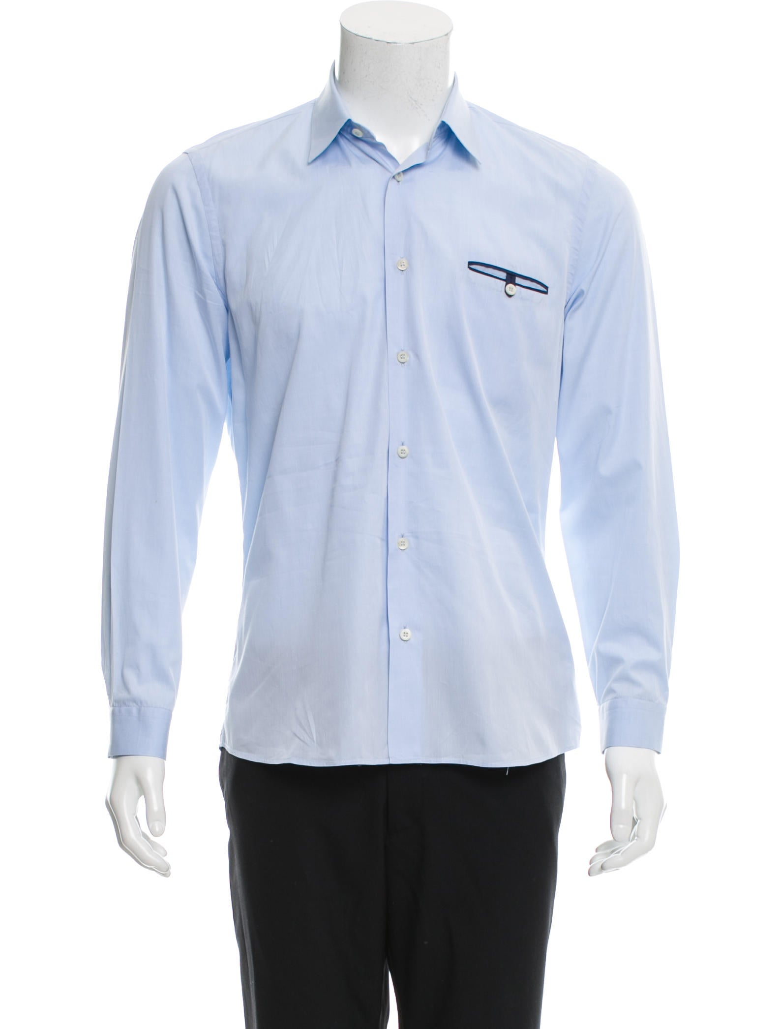 Prada long sleeve button up shirt clothing pra143084 for Cool long sleeve button up shirts
