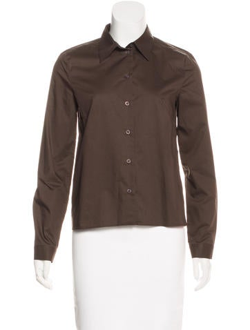 Prada Fitted Button-Up Top None