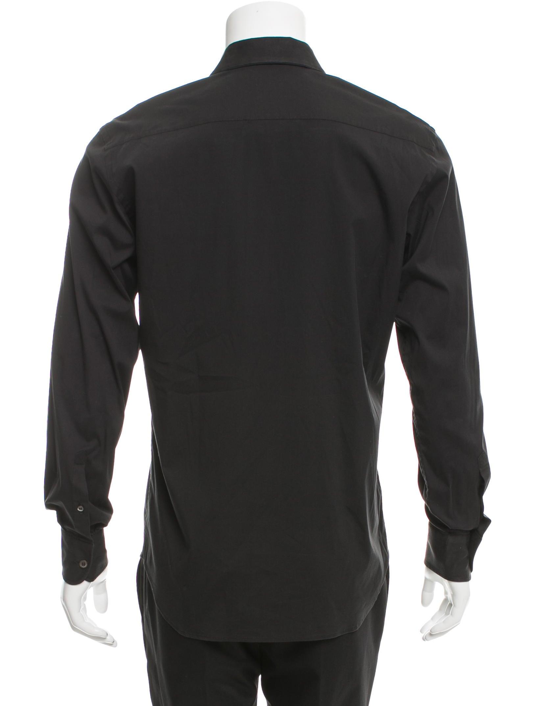 Prada Long Sleeve Button Up Shirt Clothing Pra143472