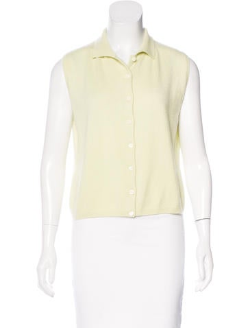 Prada Sleeveless Cashmere Top None