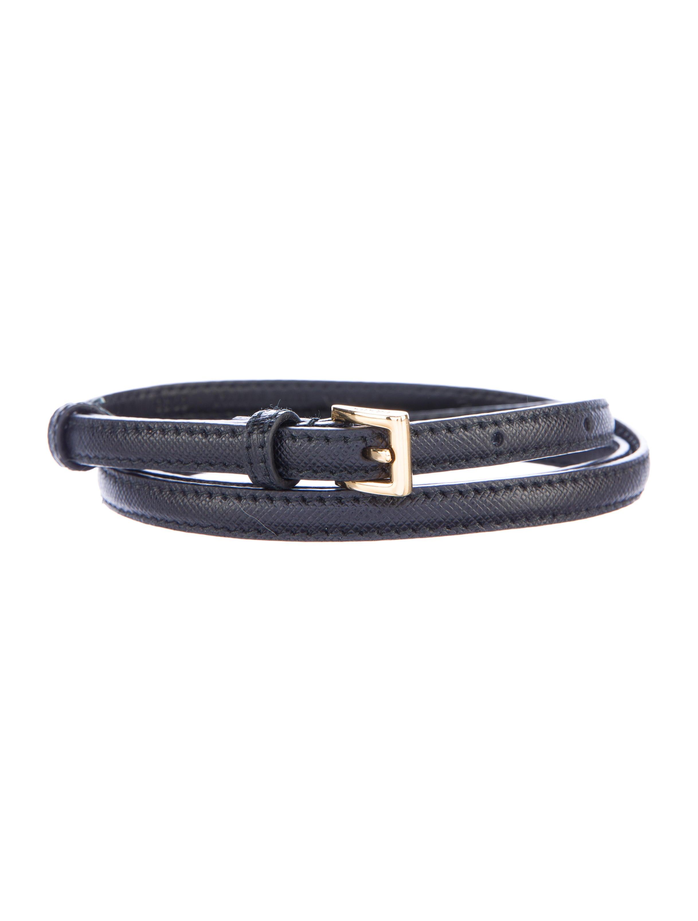 prada saffiano leather belt accessories