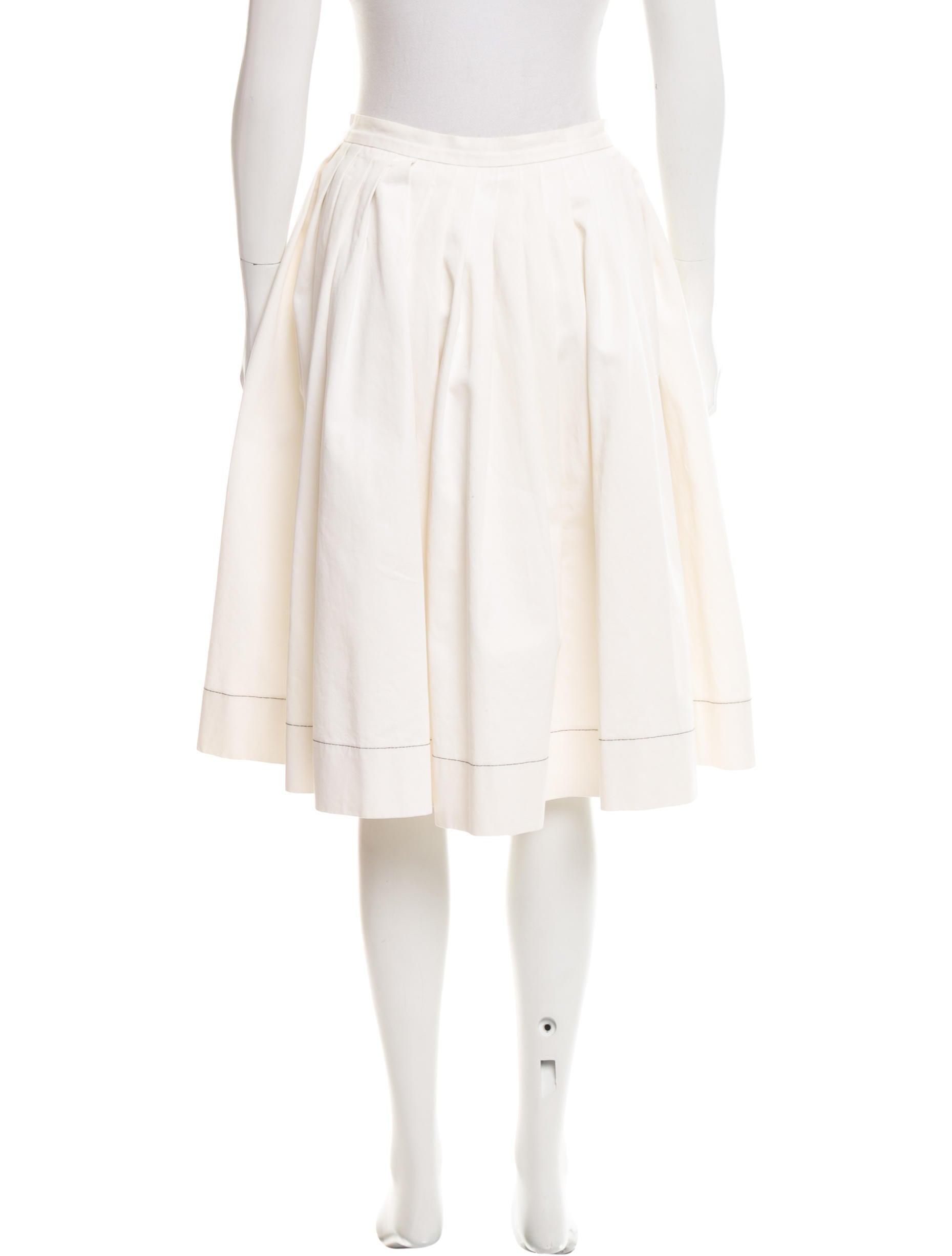 prada pleated a line skirt clothing pra144198 the