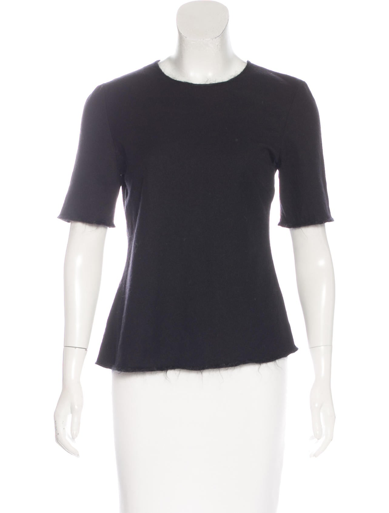 Prada wool short sleeve top clothing pra144299 the for Best wool shirt jackets