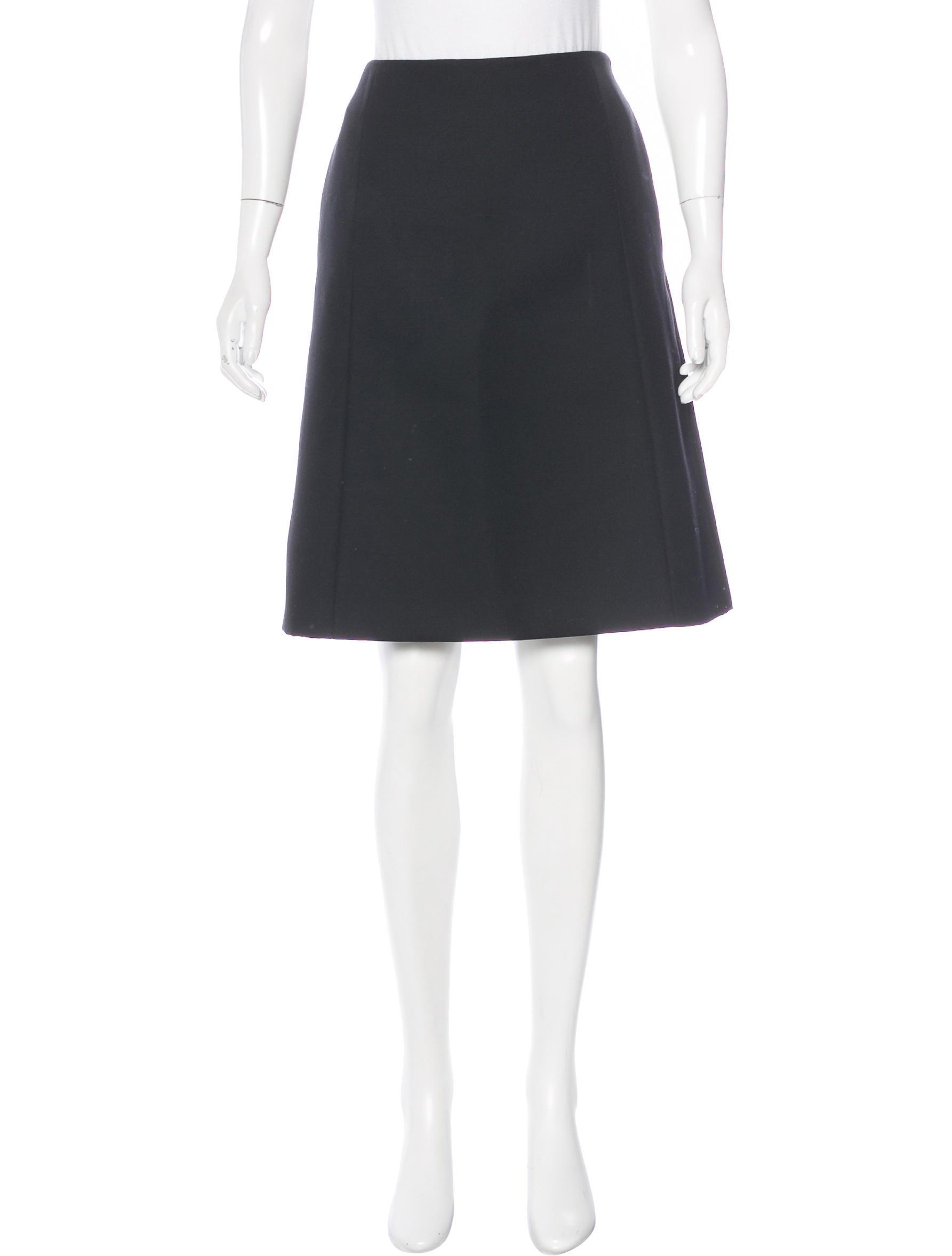 prada wool a line skirt clothing pra144410 the realreal