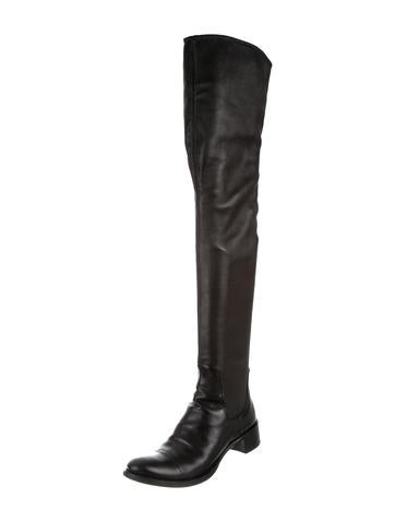 prada leather thigh high boots shoes pra144415 the