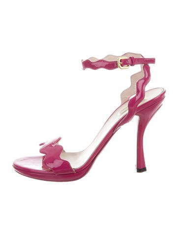 Prada Patent Leather Sandals None