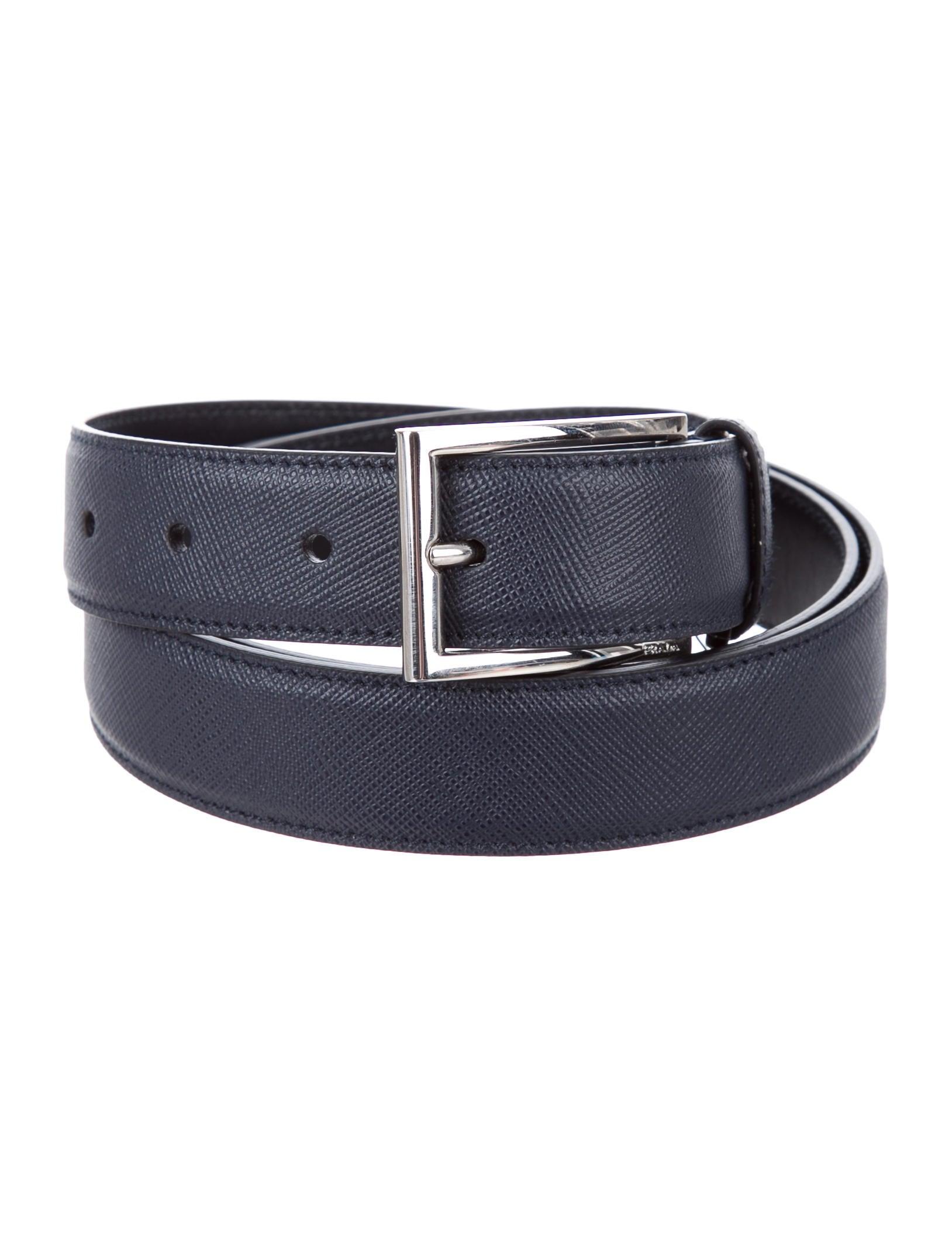 prada saffiano leather belt w tags accessories