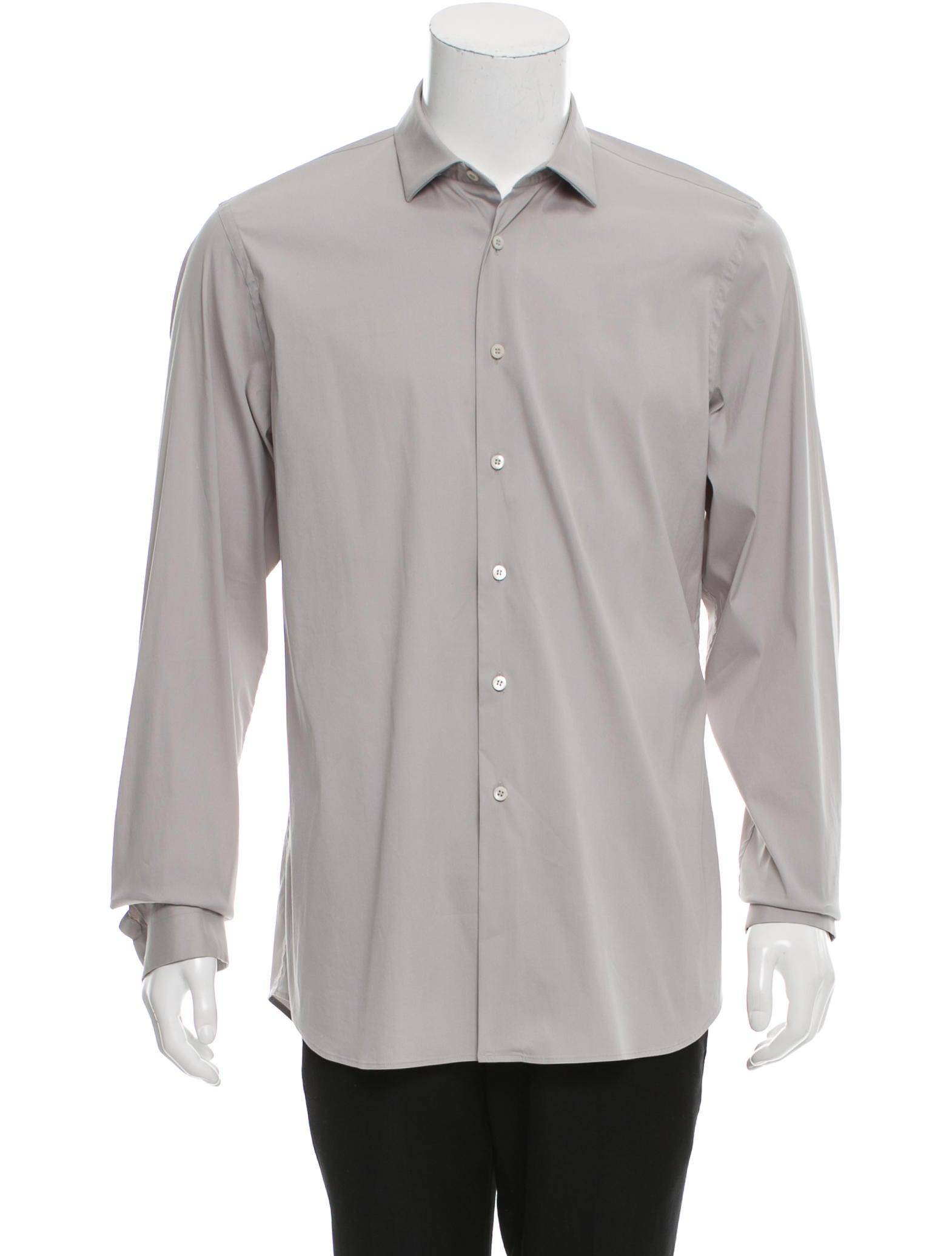 Prada button up poplin shirt clothing pra144787 the for What is a poplin shirt