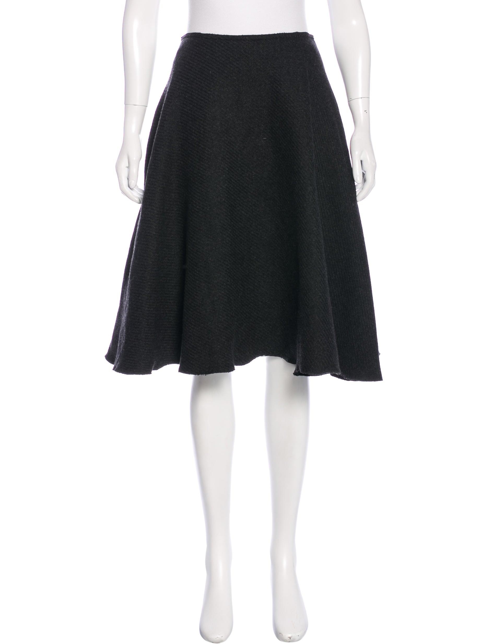 prada wool a line skirt clothing pra144823 the realreal
