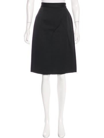 Prada Ribbed Knee-Length Skirt None