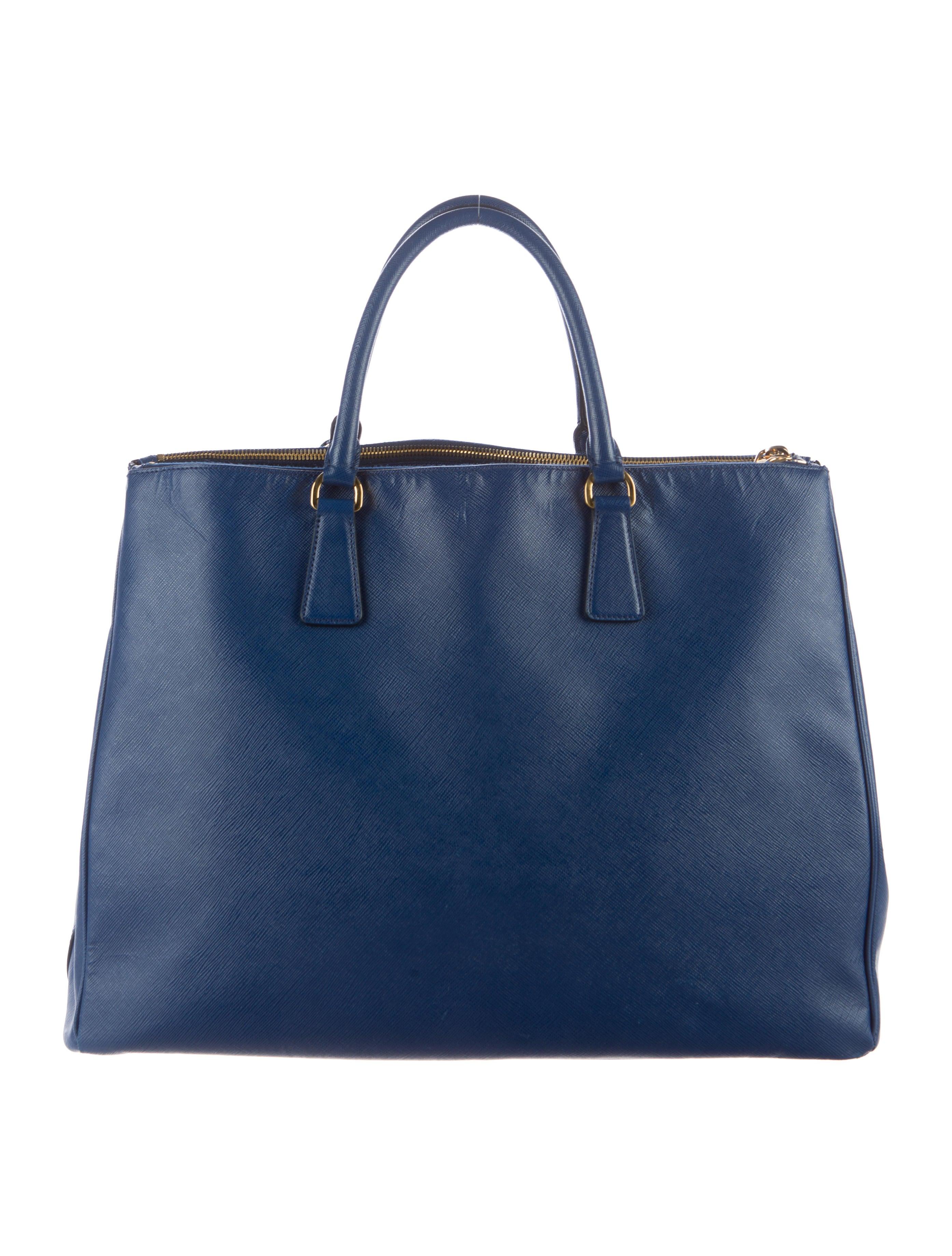c64cc5631f63 Prada Extra Large Saffiano Lux Galleria Double Zip Tote - Handbags ...
