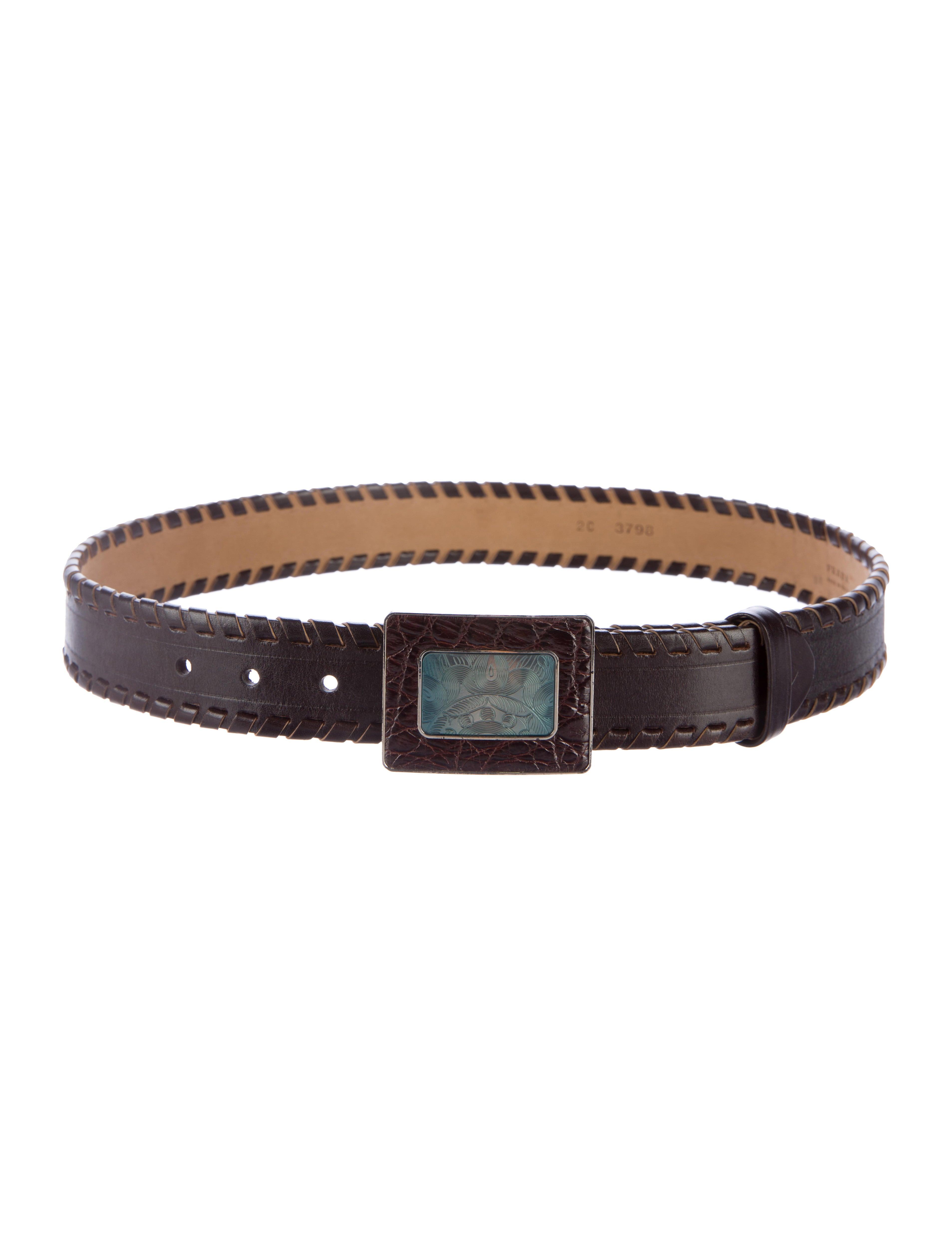 prada woven leather belt accessories pra144864 the