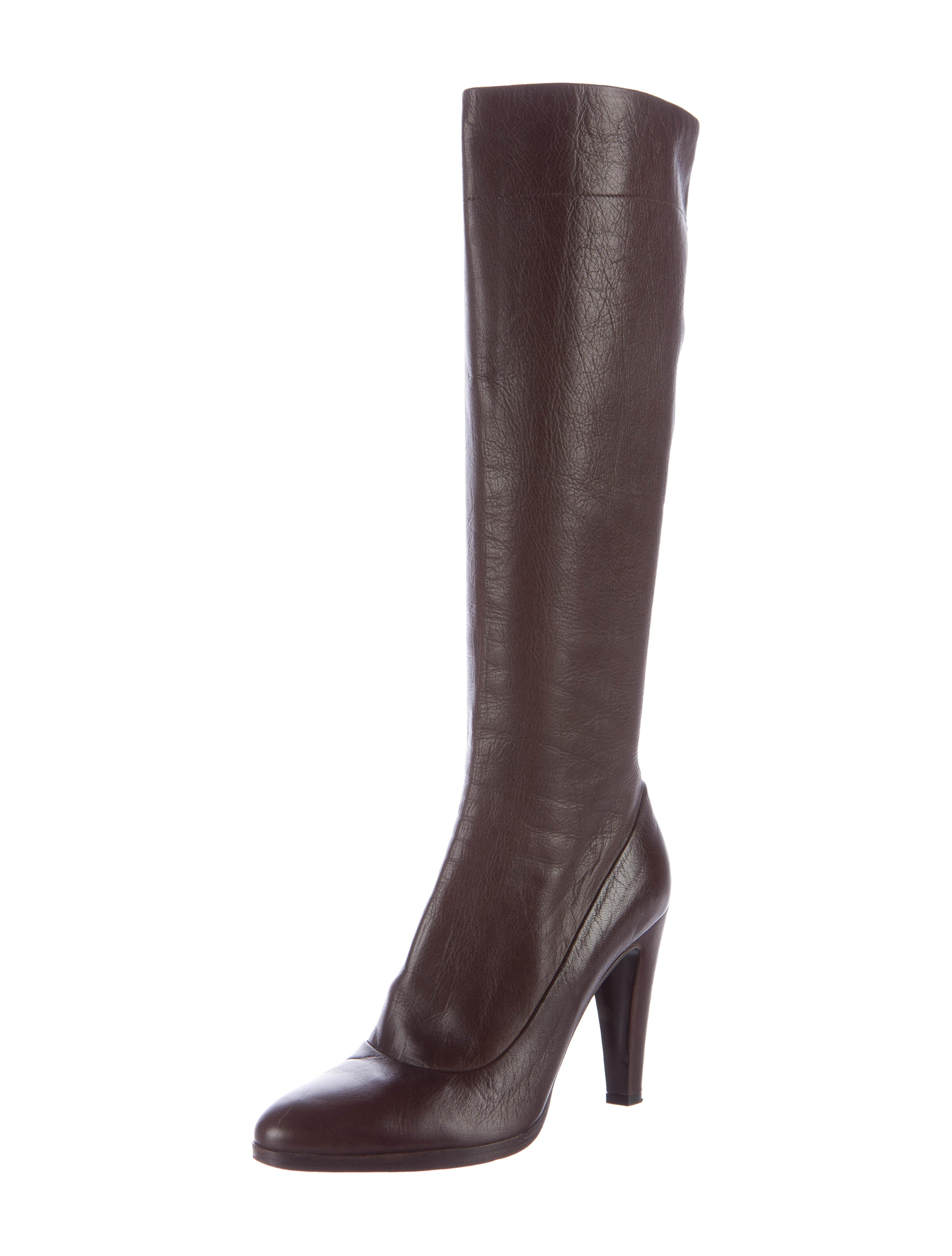prada leather knee high boots shoes pra144880 the