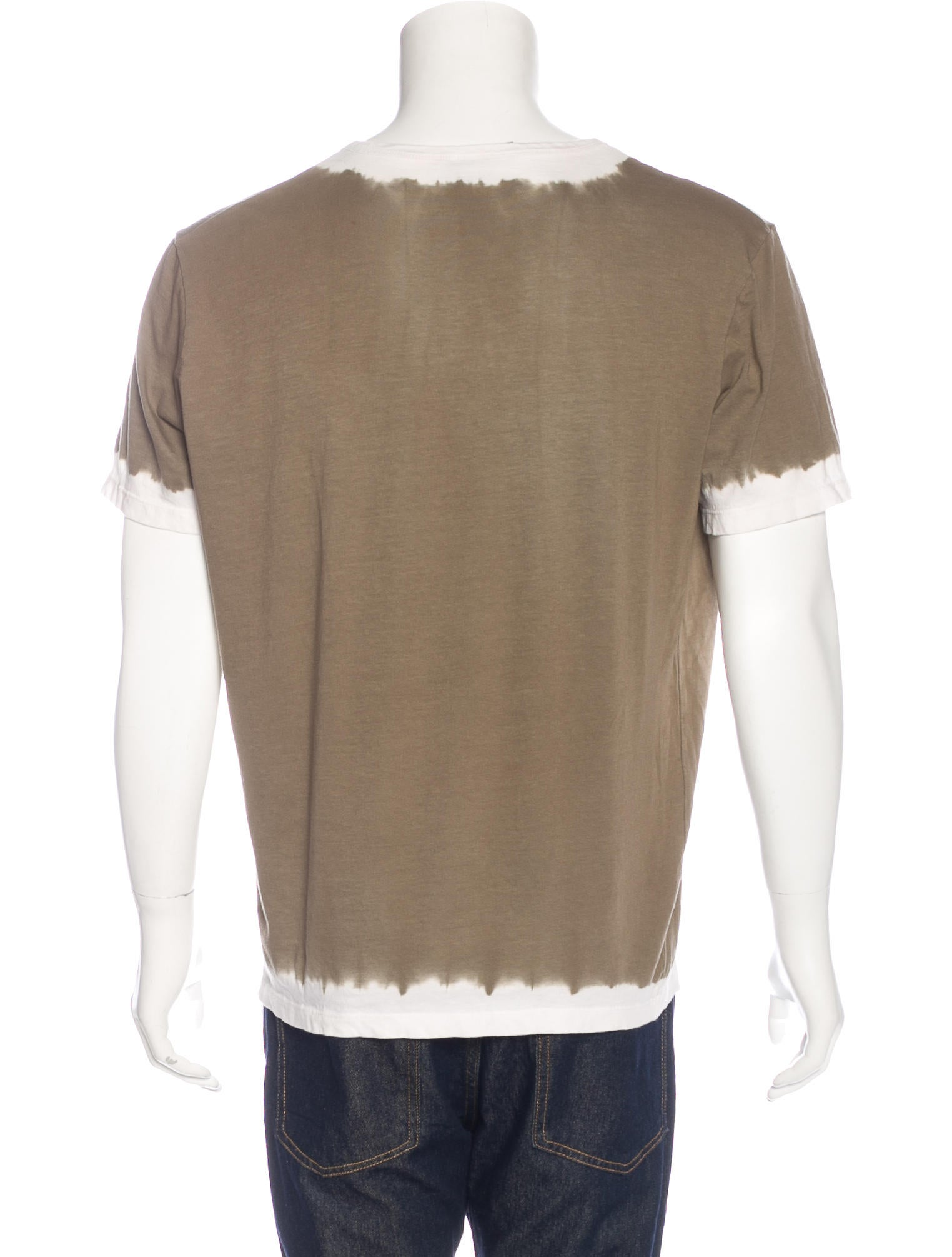Prada dip dye v neck t shirt clothing pra144910 the for Mens dip dye shirt