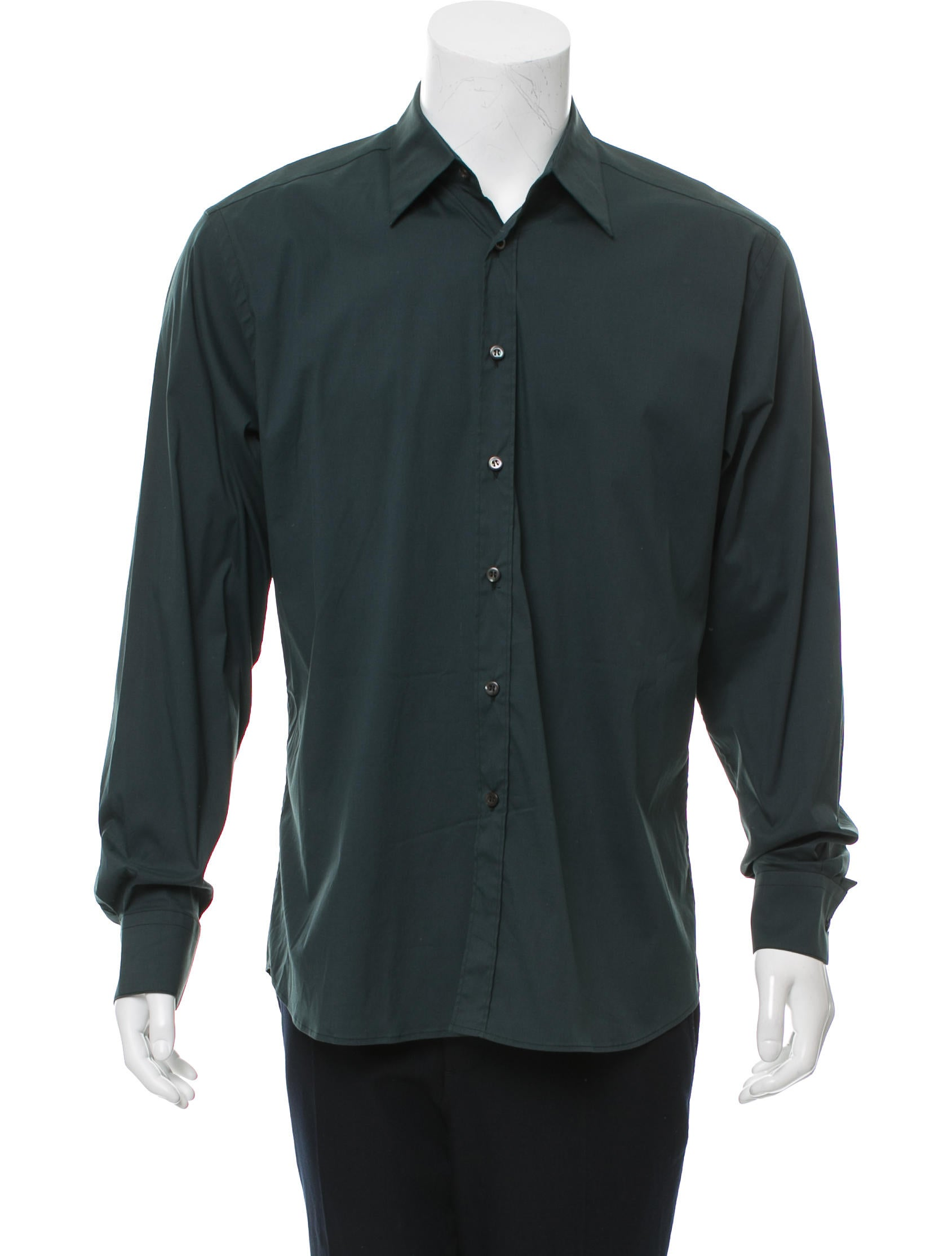 Prada Long Sleeve Button Up Shirt Clothing Pra145322