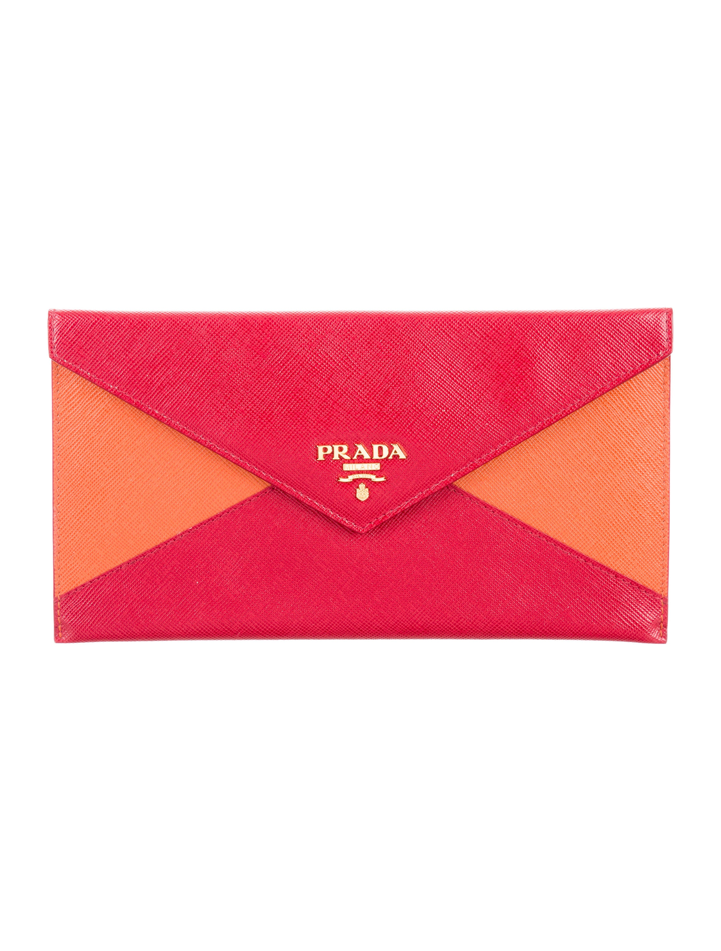 38d03686342c1e Prada Saffiano Bicolor Envelope Wallet - Accessories - PRA146062 ...