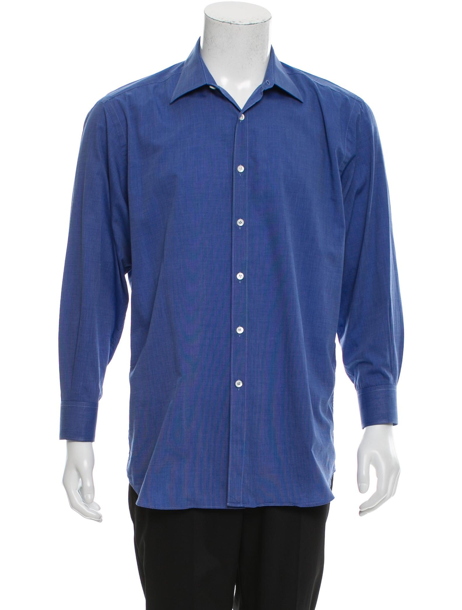 Prada Long Sleeve Button Up Shirt Clothing Pra146180