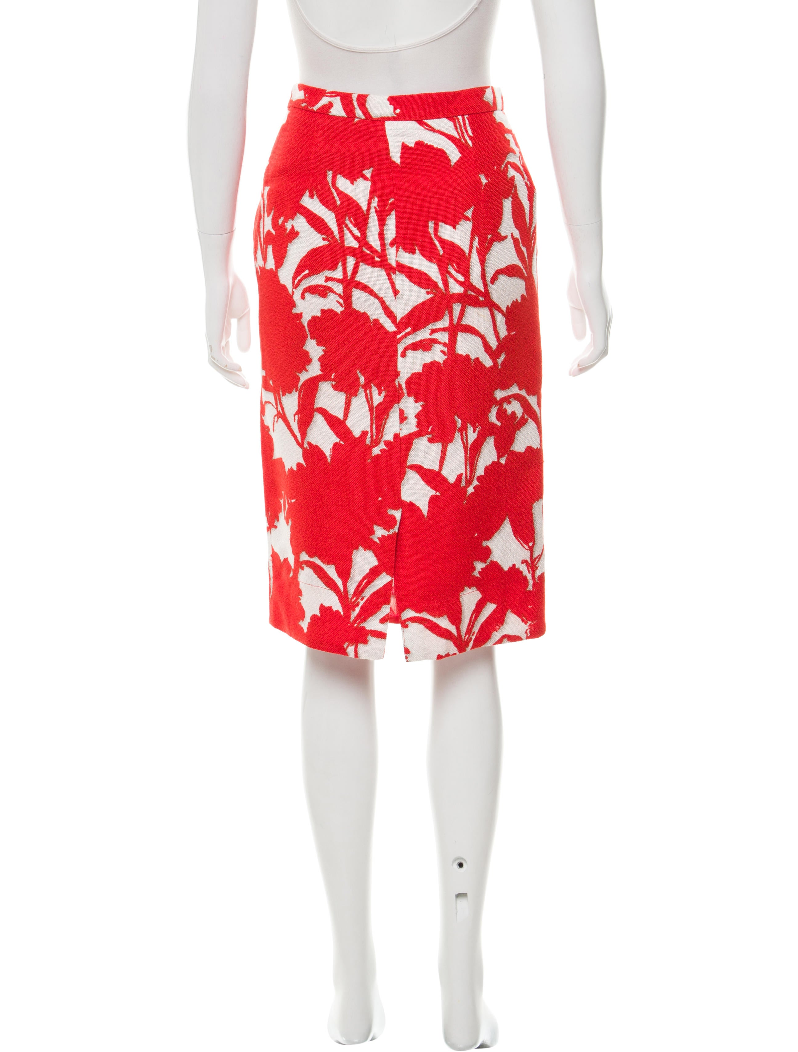 prada floral pencil skirt clothing pra146328 the