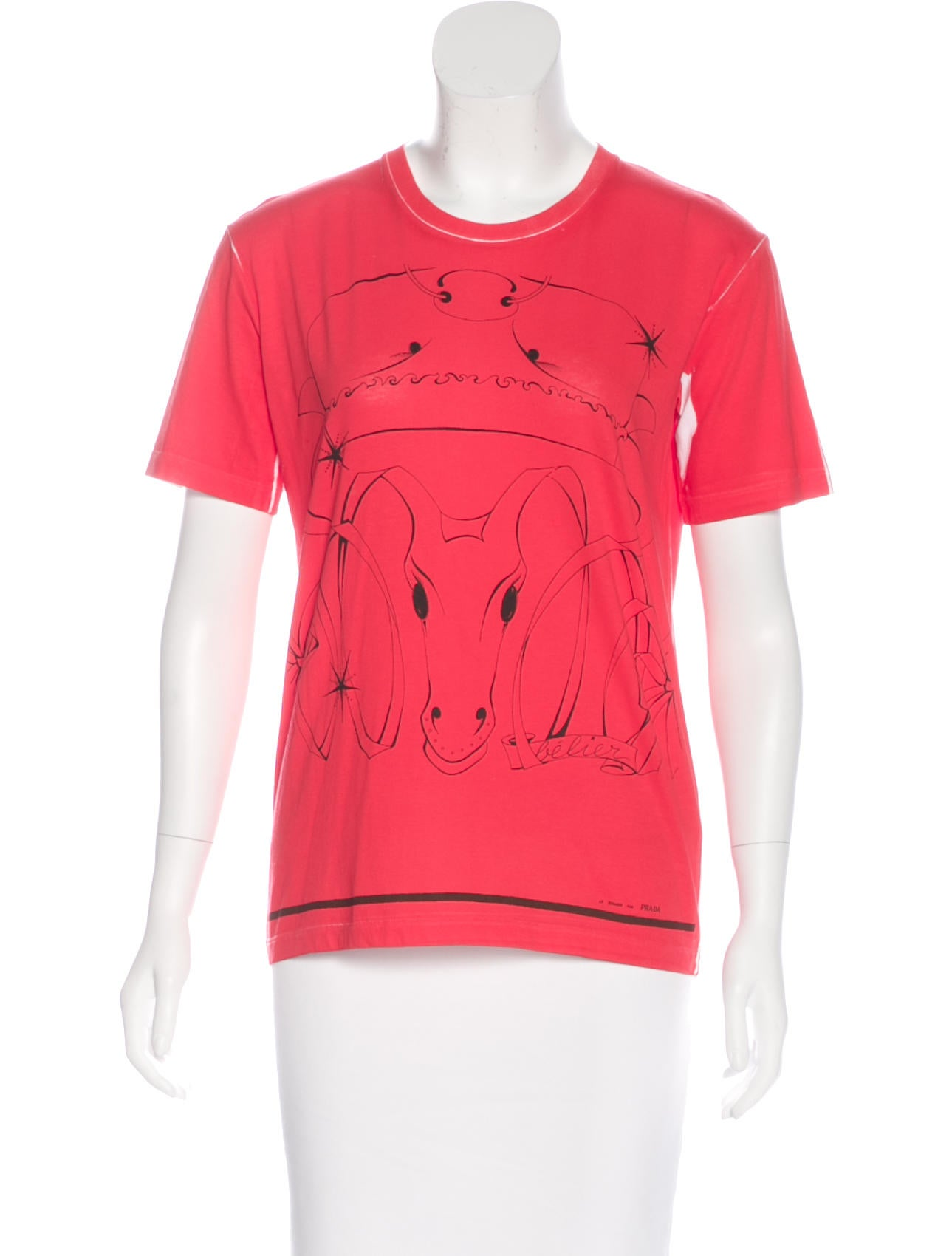 Prada printed short sleeve t shirt clothing pra146487 for Printed short sleeve shirts