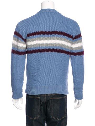 Mens alpaca striped sweater