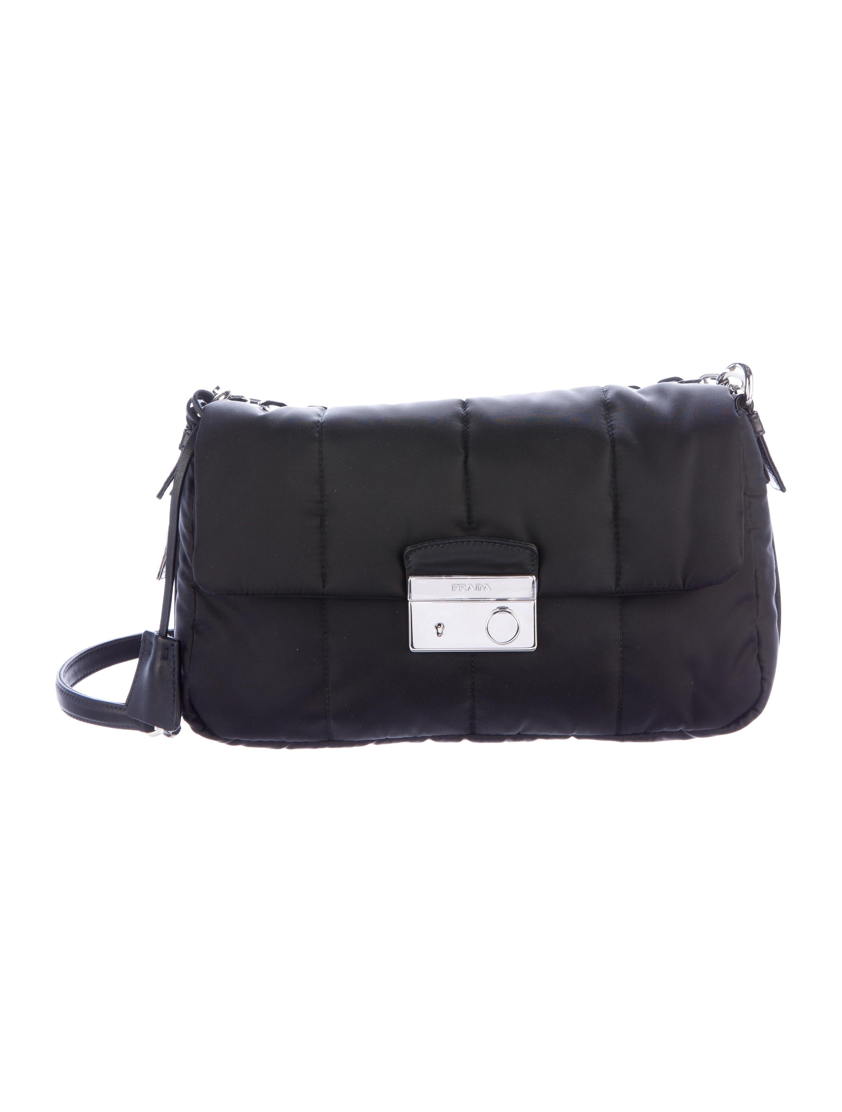 a8ad07682725 Prada Quilted Tessuto Crossbody Bag - Handbags - PRA146566 | The RealReal