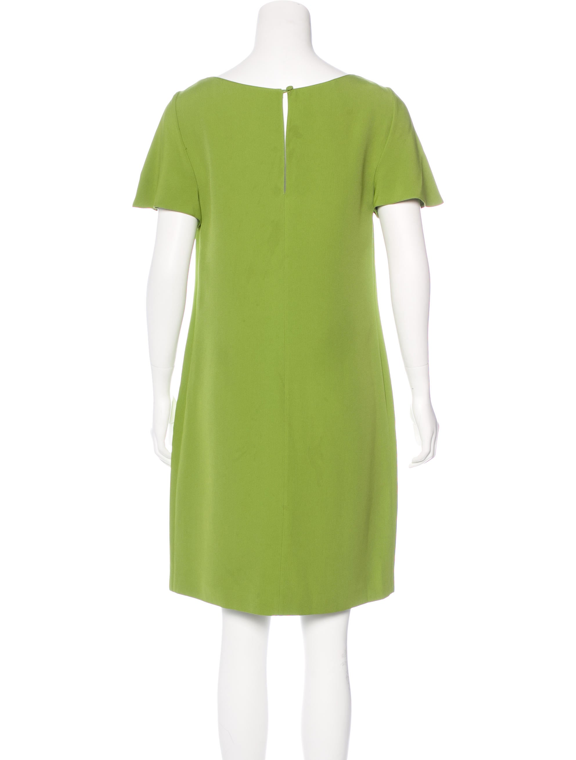 prada kneelength shift dress clothing pra146622 the