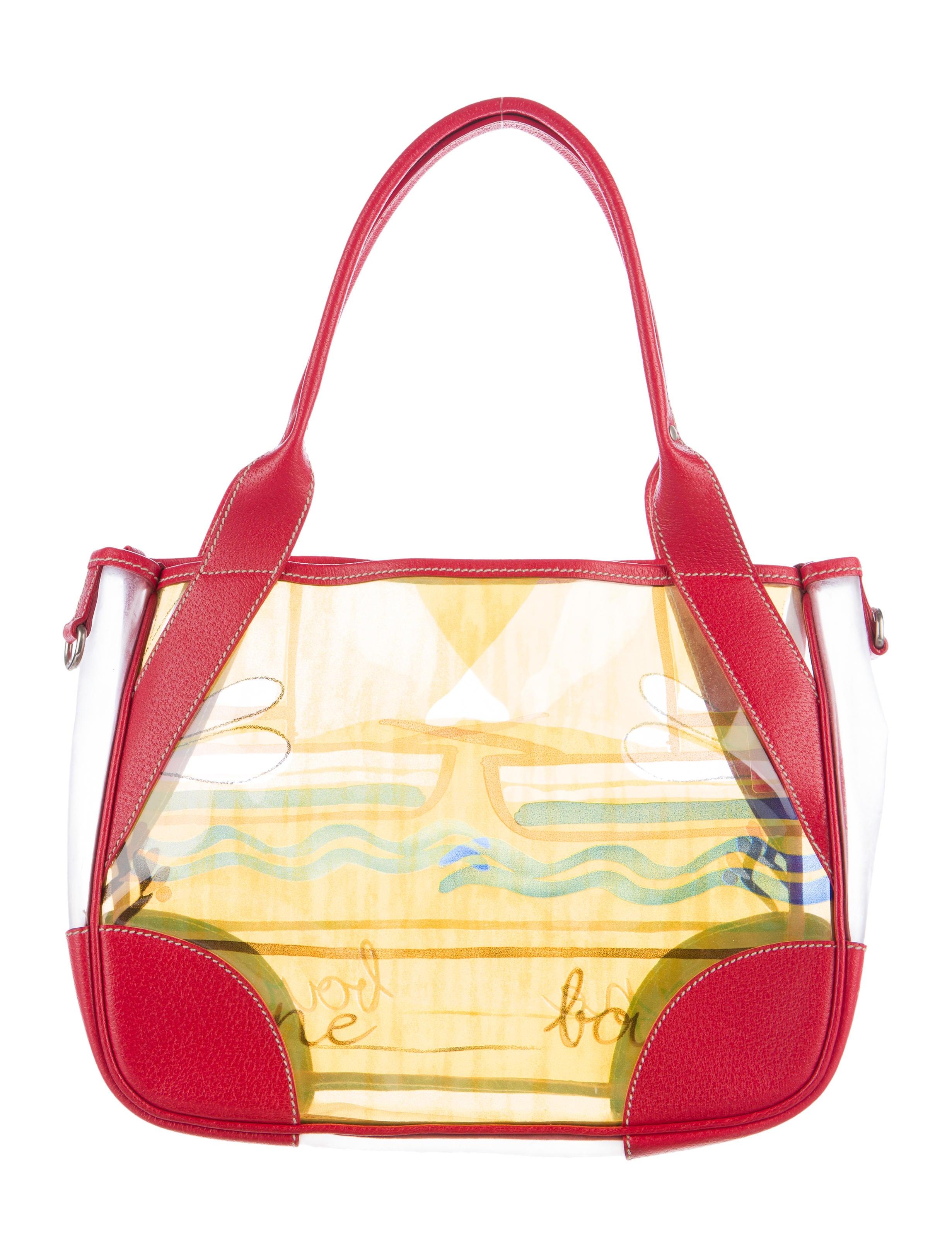 Prada Vinyl Beach Bag Handbags Pra146701 The Realreal