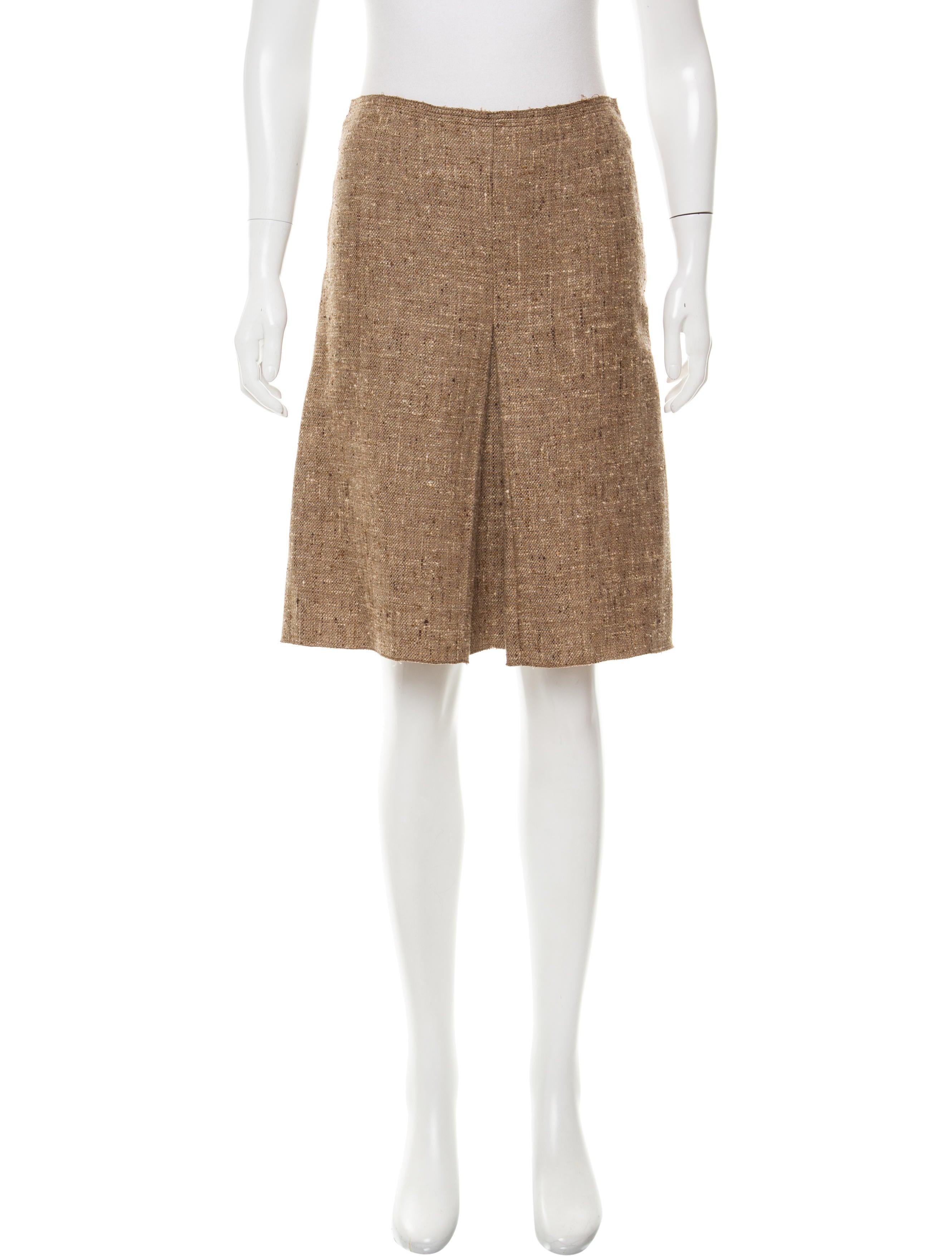 prada tweed a line skirt clothing pra146860 the realreal