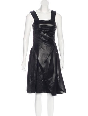 Prada Satin A-Line Dress None