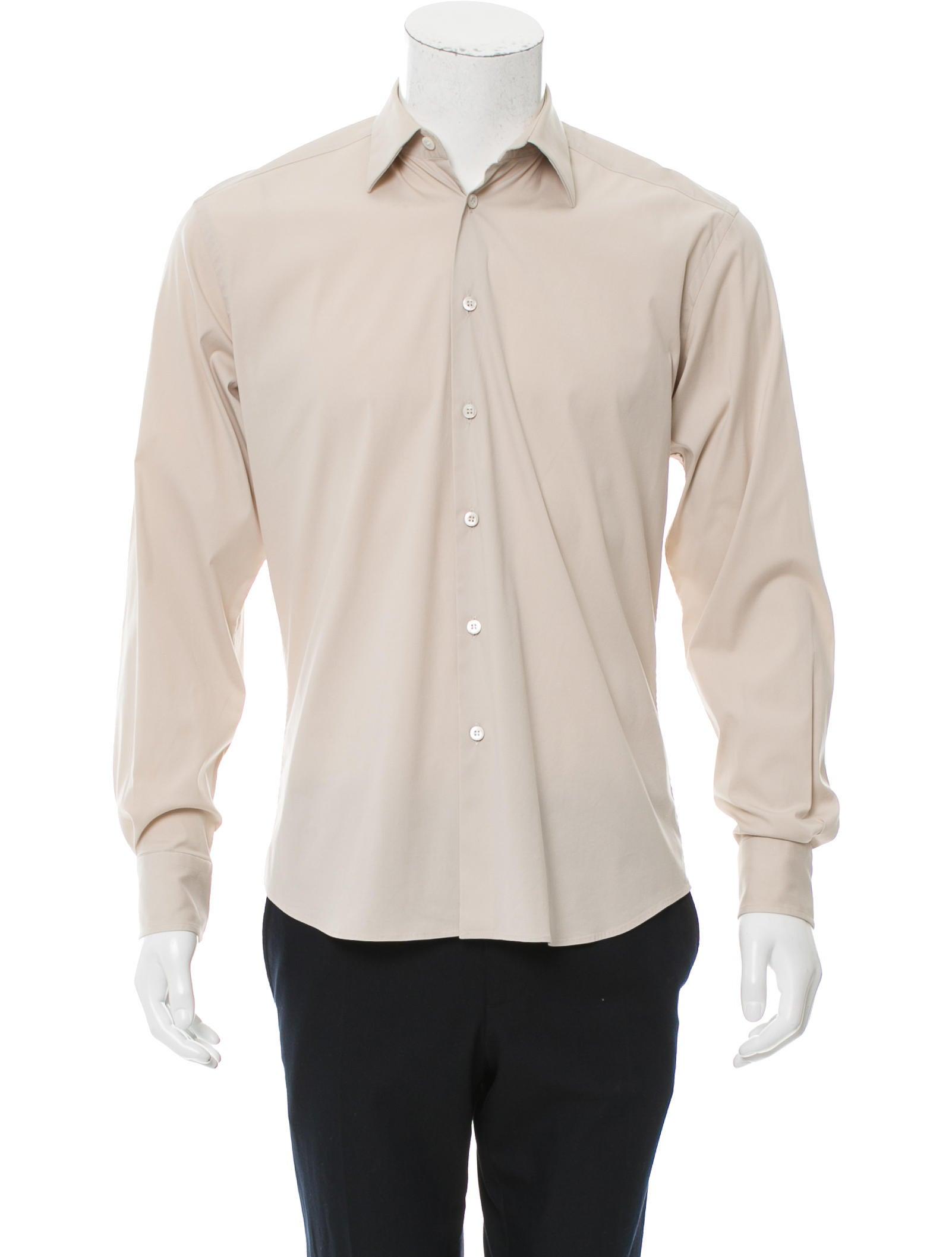 Prada Long Sleeve Button Up Shirt Clothing Pra147301
