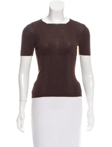 Prada Cashmere & Silk-Blend Knit Top None