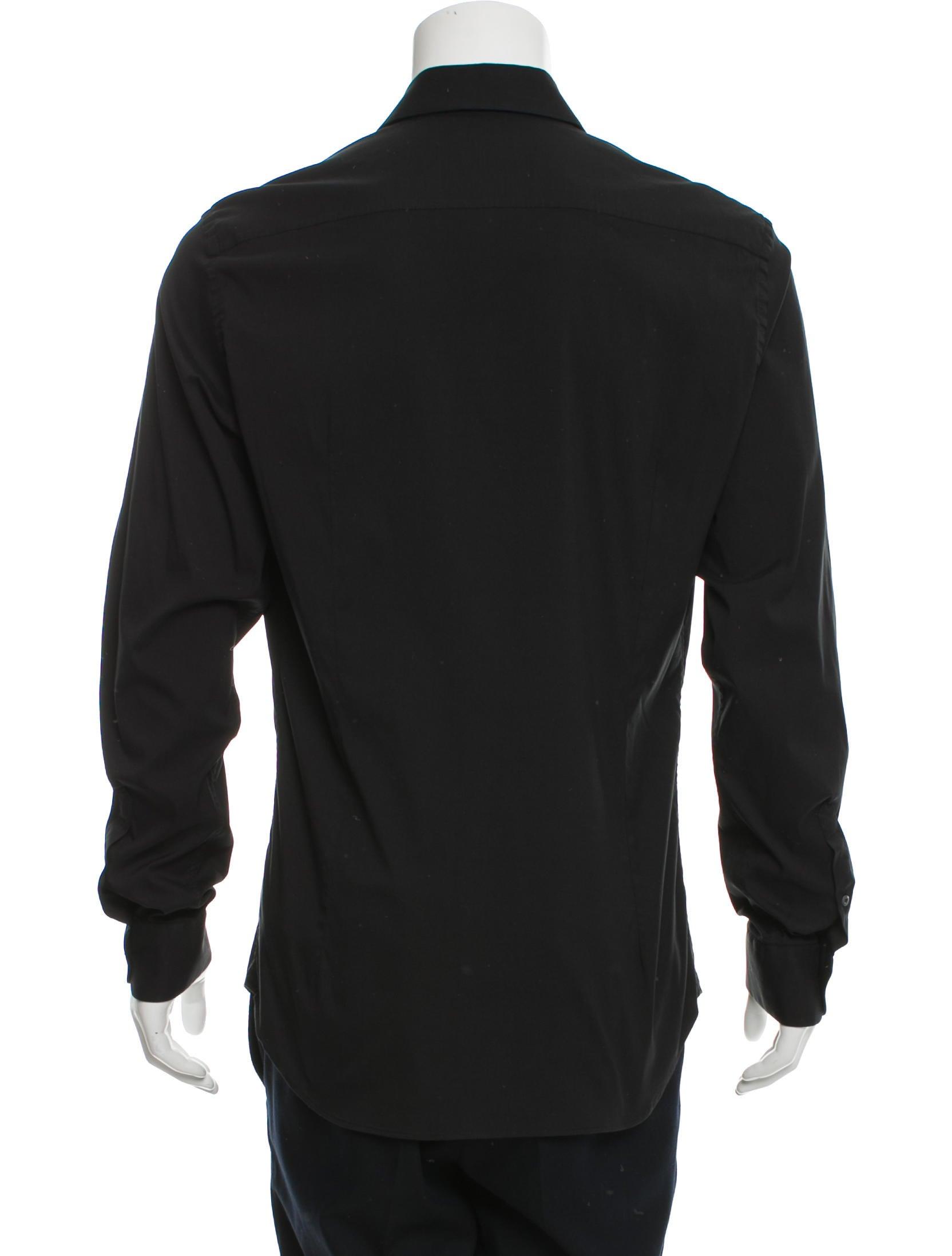 Prada Long Sleeve Button Up Shirt Clothing Pra147900