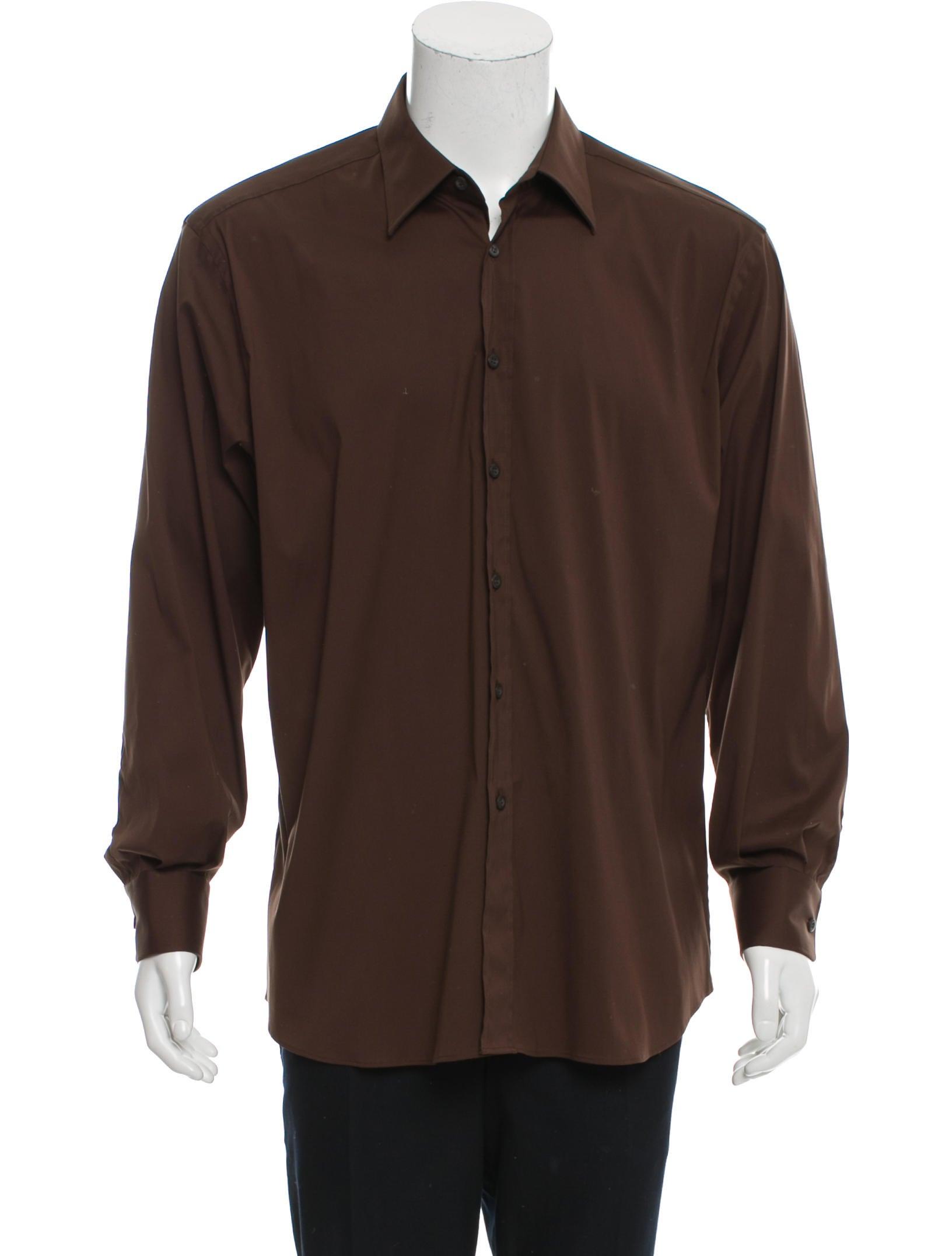Prada Long Sleeve Button Up Shirt Clothing Pra147912