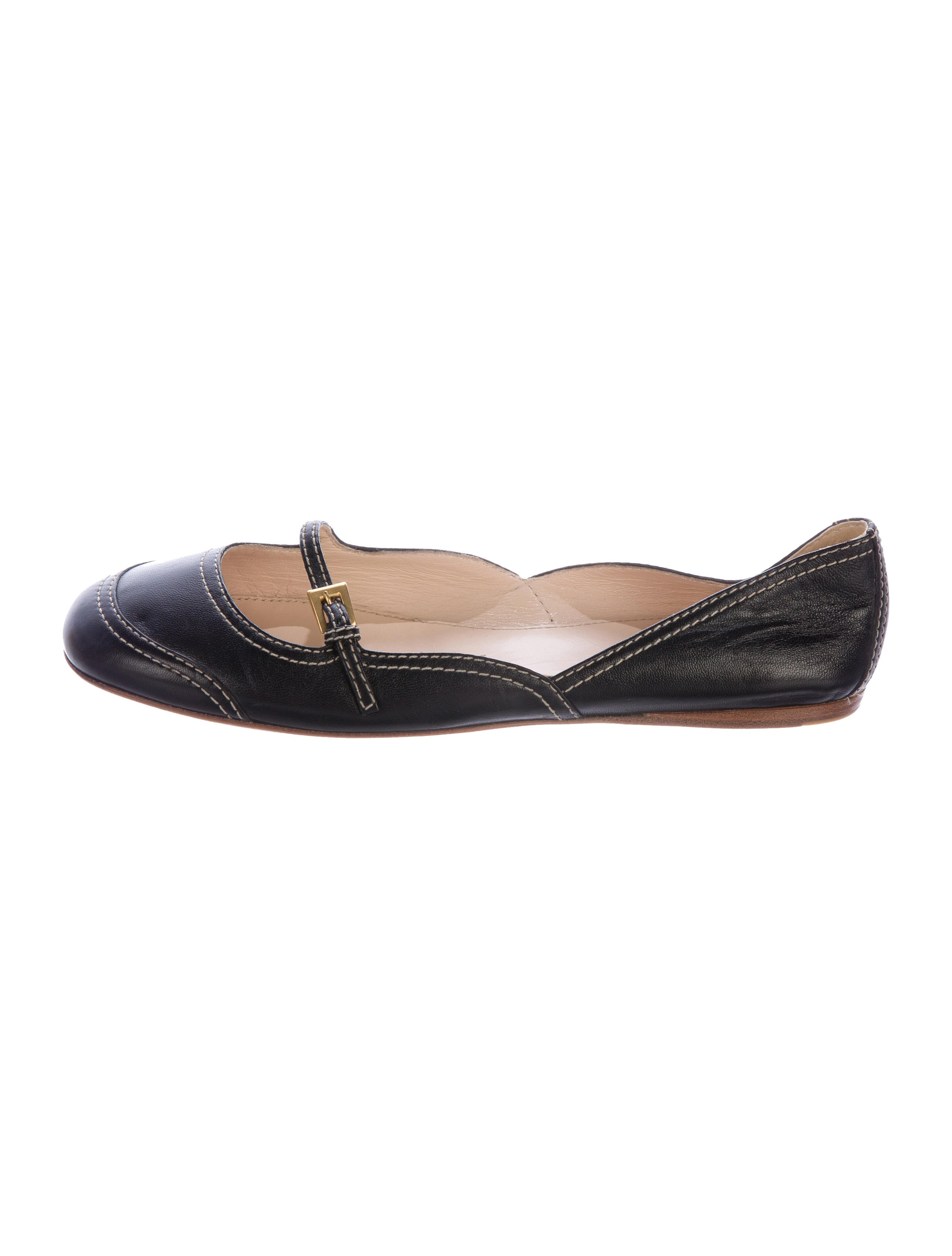 quality from china cheap Prada Leather Round-Toe Flats latest collections sale online sale with paypal DXQ4BNsf