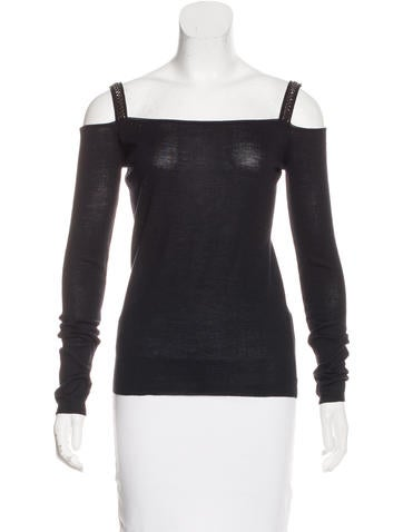 Prada Wool Cold-Shoulder Sweater None