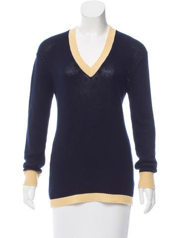Prada Two-Tone Cashmere Sweater None