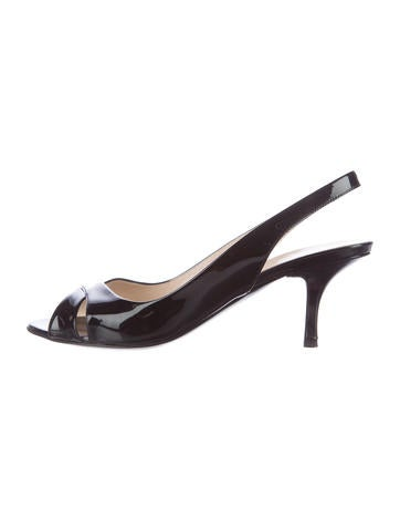 Prada Patent Slingback Sandals None