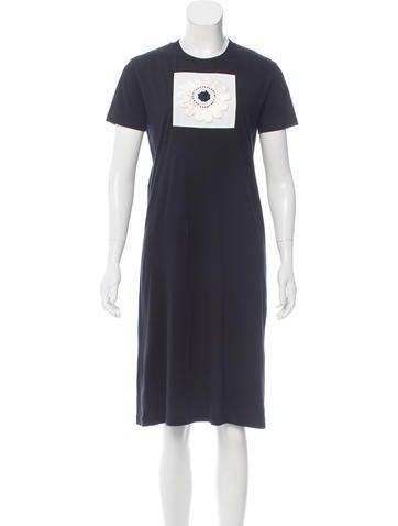 Prada Embellished T-Shirt Dress None