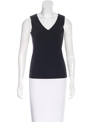 Prada Sleeveless V-Neck Top None